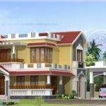 Separate Porch Home Feet Kerala Plans