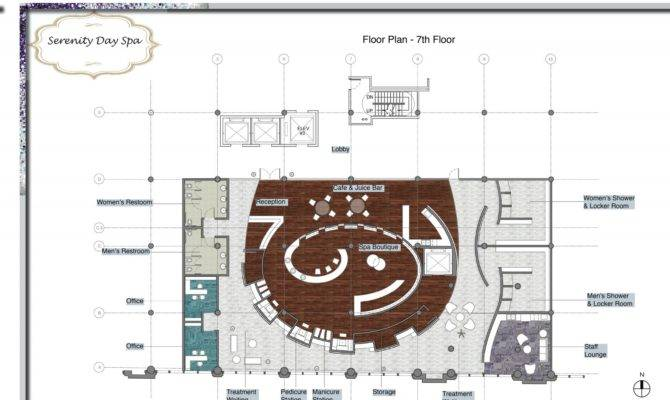 Serenity Day Spa Floor Plan Lucy Dybala Kokor