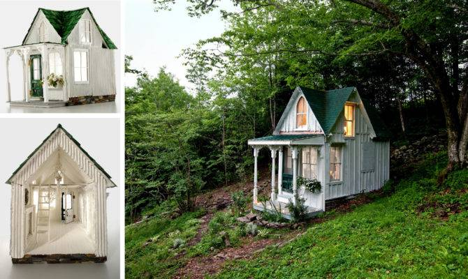 Shabby Chic Dollhouse Recreates Victorian Style
