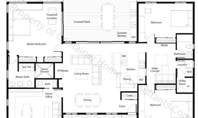 Shaped Container Home Plan House Planes Pinterest