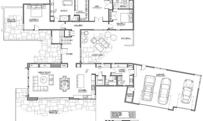 Shaped Floor Plan Modern Plans House Ranch Berlinkaffee