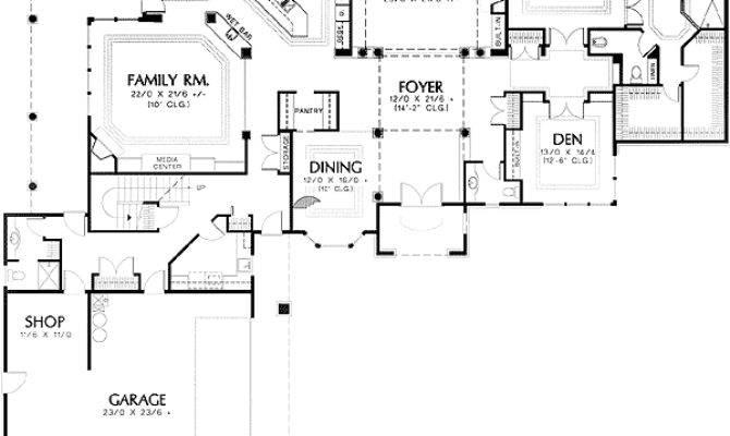 Shaped Garage House Plans Homes Floor