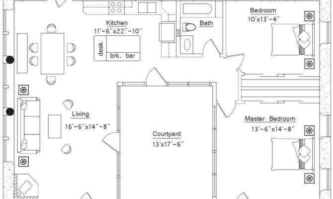 Shaped House Floor Plan Bedroom Plans Home Design