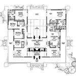 Shaped House Plans Courtyard Middle Escortsea