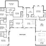 Shaped House Plans Single Level Home