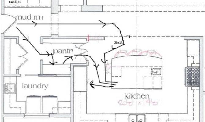 Shaped Kitchen Floor Plans Island