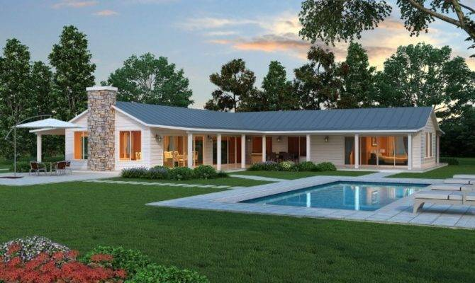 Shaped Ranch Style House Plans Simple
