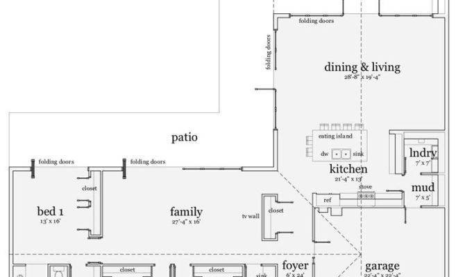 Shaped Ranch Style House Plans