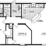 Shaped Square Foot Bedroom Plans Small House