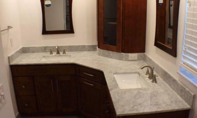 Shaped Vanity Home Design Ideas Remodel Decor