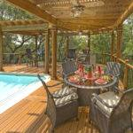 Shaped Wood Pergola Over Pool Deck Archadeck Outdoor Living