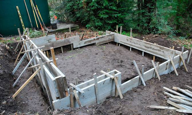 Shed Foundation Had Accommodate Grade Slope