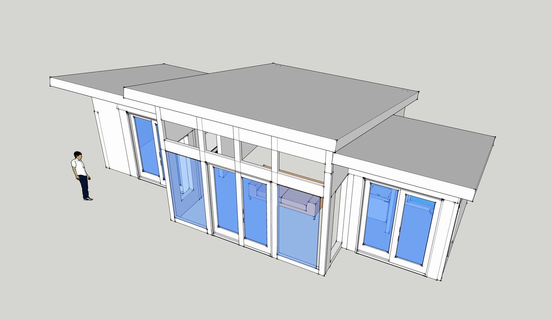 Simple Small Shed Roof House Design Placement Home Plans Blueprints