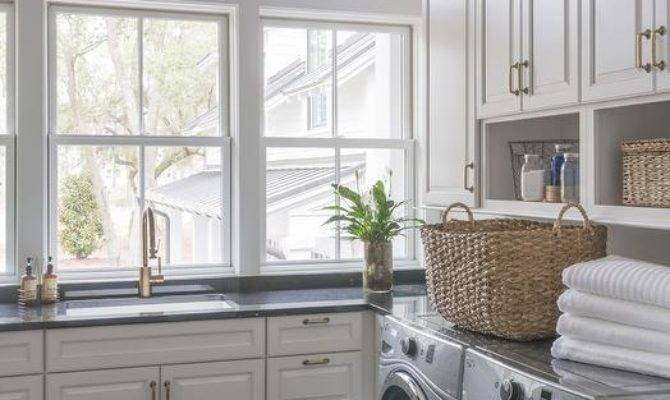 Shelving Over Washer Dryer Cottage Laundry Room