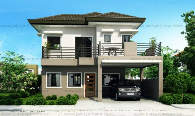 Sheryl Four Bedroom Two Story House Design Pinoy Eplans
