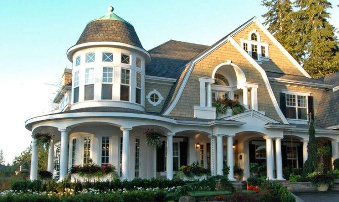 Shingle Style Waterfront Home Plans