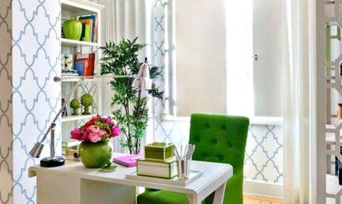 Shop Look Kelly Green White Home Office Decor