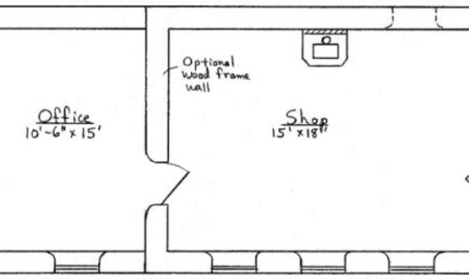 Shop Office Plan