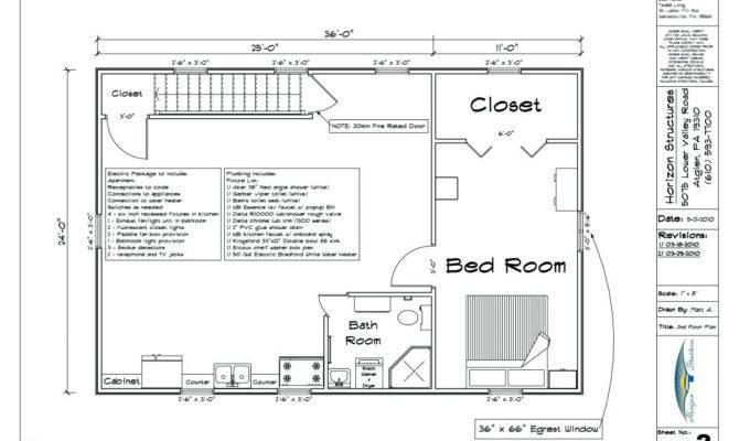 Shop Plans Living Quarters