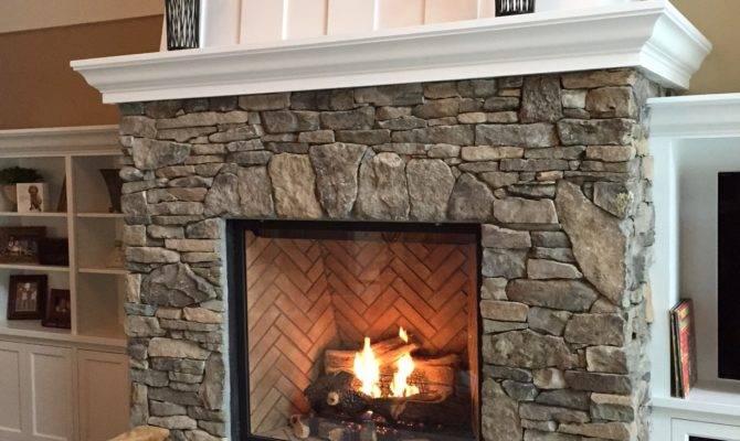 Shorewood Stone Fireplace Twin City