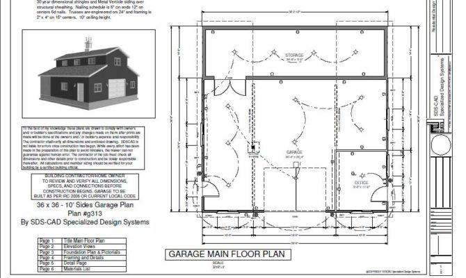 Sides Garage Plan Cabin Plans