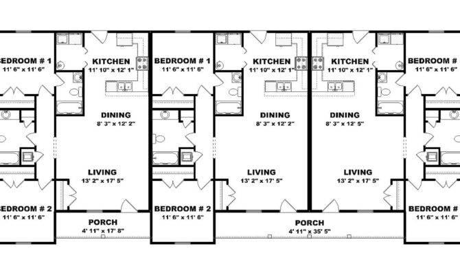 Similar Design Triplex Home Plans