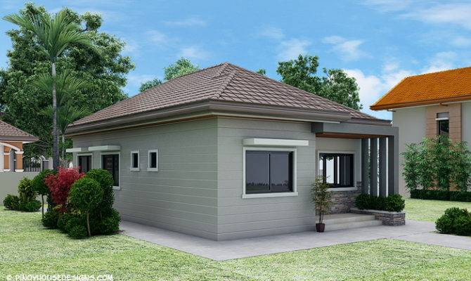 Simple Bedroom Bungalow House Design Amazing