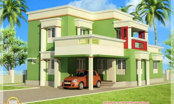 Simple Bedroom Flat Roof Home Design