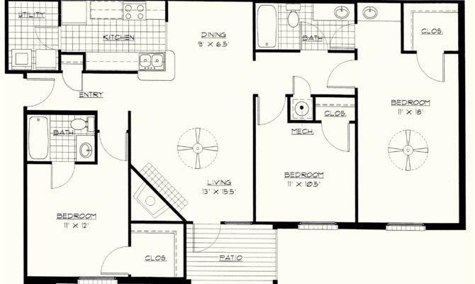 Simple Bedroom Floor Plans Homes