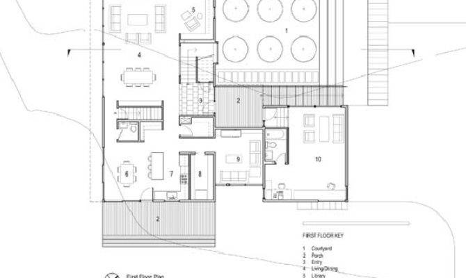 Simple Contemporary Courtyard House Plan Want