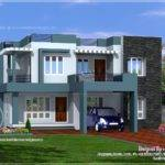 Simple Contemporary Style Villa Plan Kerala Home Design Floor