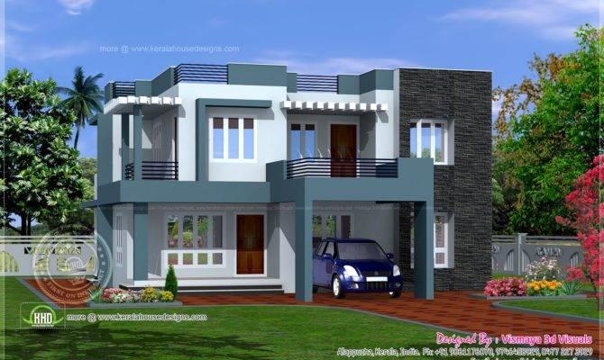 Simple Contemporary Style Villa Plan Kerala Home Design Floor