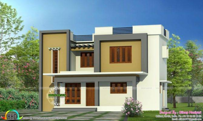 Simple Flat Roof Home Architecture Kerala Design