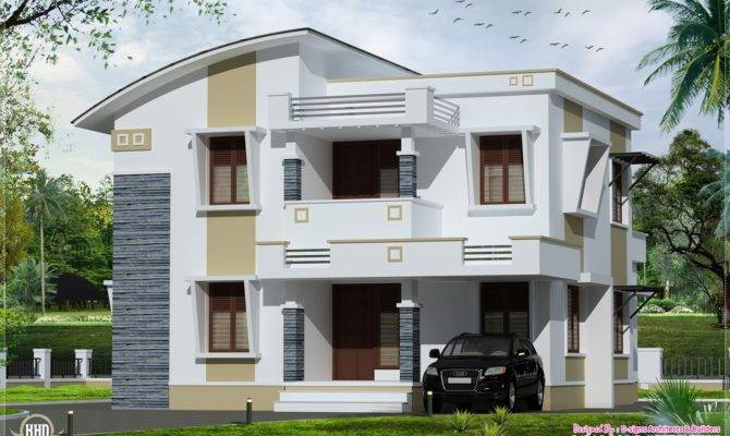 Simple Flat Roof Home Design Feet Kerala