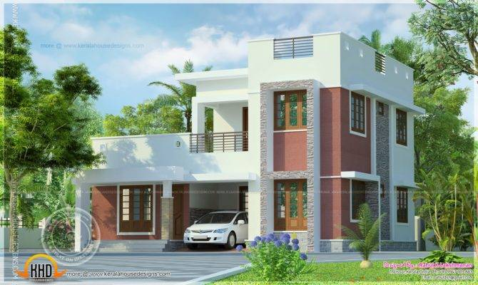Simple Flat Roof House Exterior Kerala Home Design