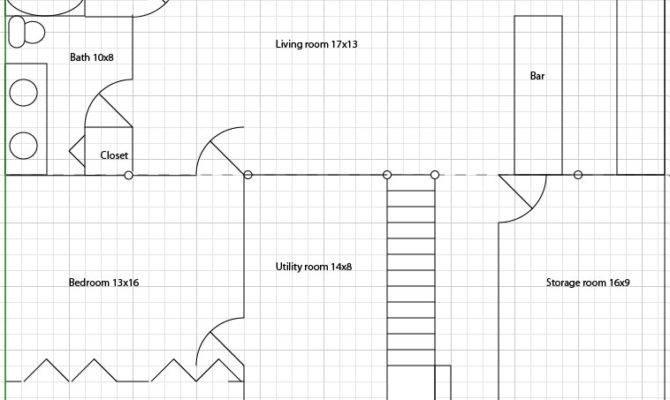 Simple Floor Plans Basement Layout Plan