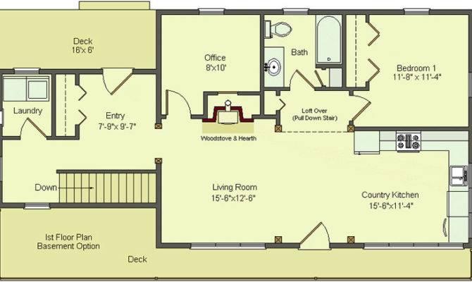 Simple Floor Plans Basement Open House