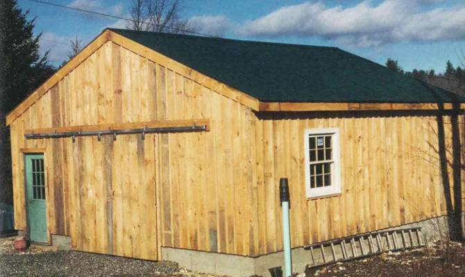 Simple Garage Building Customized Into Barn
