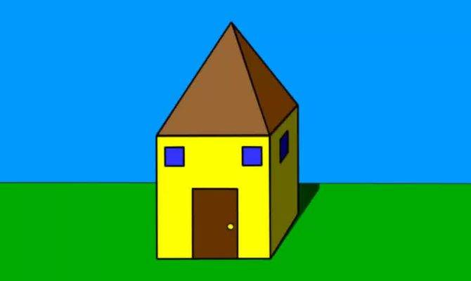 Simple House Drawing Kids Draw Step