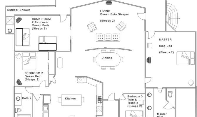 Simple House Open Floor Plan Architectures