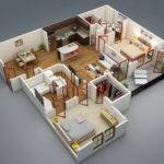 Simple House Plan Bedrooms Two Bedroom Bit