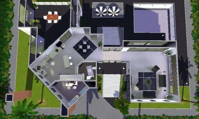 Simple House Plans Sims Front Design