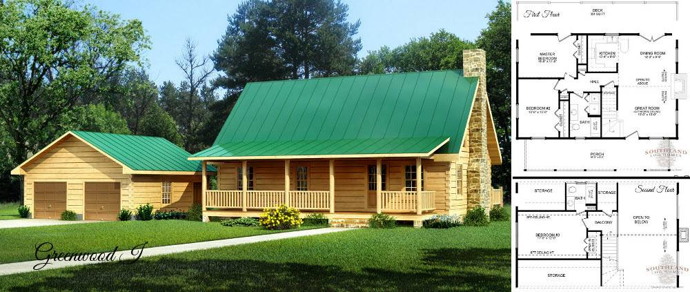 Simple Log Cabin Floor Plans Small Home Kits Southland - Home ...