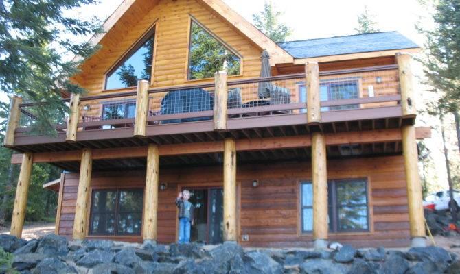 Simple Log Cabin Home Sweet Homes Pinterest
