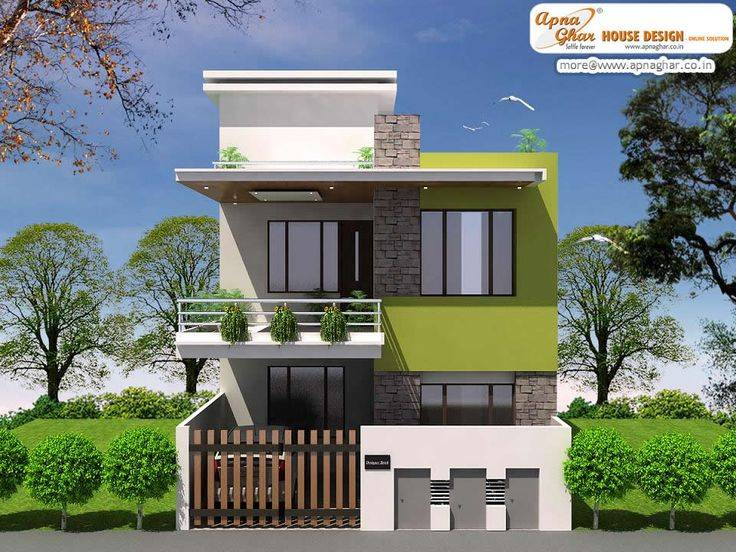 Modern Duplex House Design Square Feet