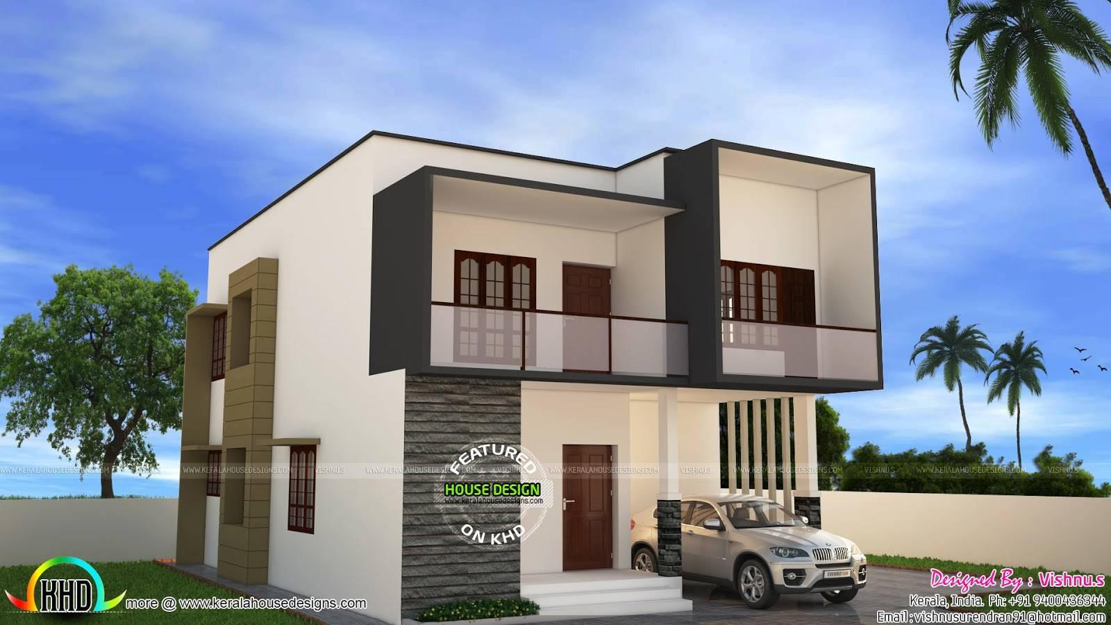 Simple Modern House Vishnu Kerala Home Design Home Plans Blueprints 115479