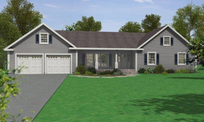 Simple Modular Ranch House Plan Design Office