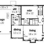 Simple One Floor House Blueprints Plans