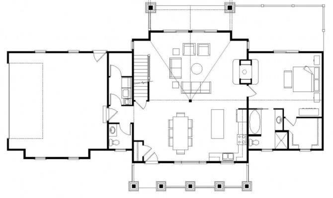 Simple Open Floor House Plans Wisconsinloghomes