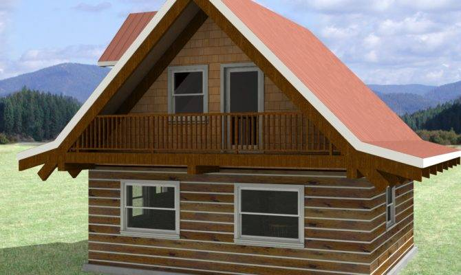 Simple Recreational Log Cabin Kit Cottage Guest House Small